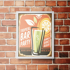 PLACA TROPICAL BAR PARTY - comprar online
