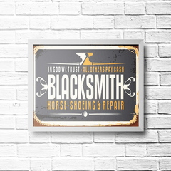 PLACA BLACKSMITH - comprar online