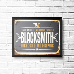 PLACA BLACKSMITH na internet