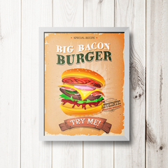 PLACA BIG BACON BURGER - comprar online