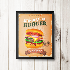 PLACA BIG BACON BURGER na internet