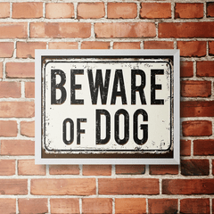 PLACA BEWARE OF DOG - comprar online