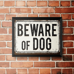 PLACA BEWARE OF DOG na internet