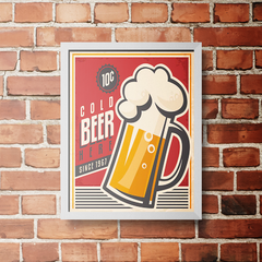 PLACA COLD BEER 1967 - comprar online