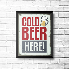PLACA COLD BEER HERE na internet