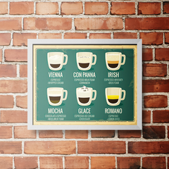 PLACA COFFEE MENU - comprar online