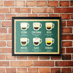 PLACA COFFEE MENU na internet