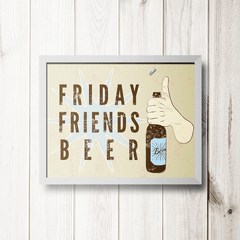 PLACA FRIDAY FRIENDS BEER - comprar online