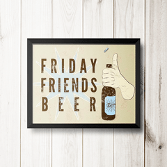 PLACA FRIDAY FRIENDS BEER na internet