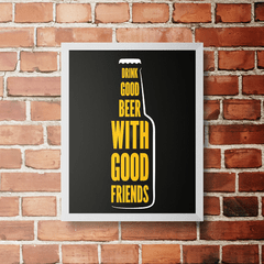 PLACA DRINK GOOD BEER - comprar online