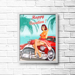 PLACA HAPPY VACATION - comprar online