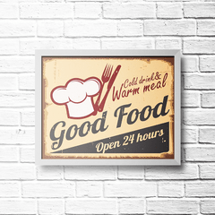 PLACA GOOD FOOD - comprar online