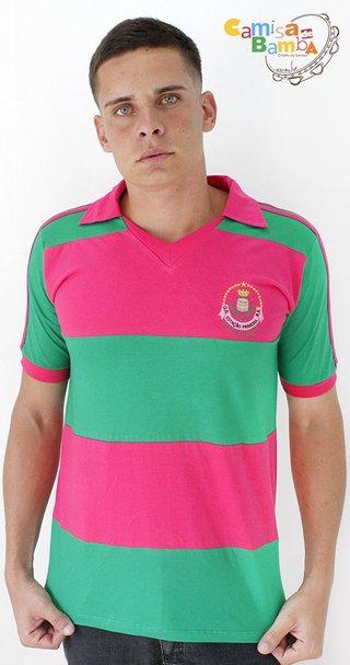... Mangueira - Polo Verde e Rosa Escuro ... 1b91afff183