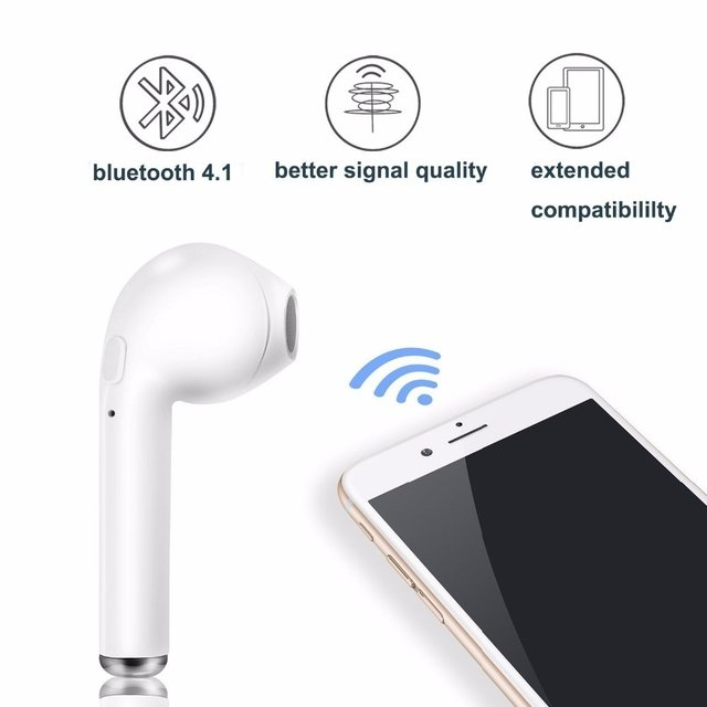 Auriculares Inalambricos I7s Tws / Iphone /android (blanco) - comprar online
