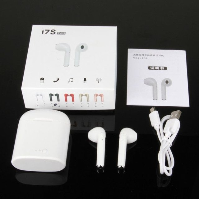 Auriculares Inalambricos I7s Tws / Iphone /android (blanco) - TopTek