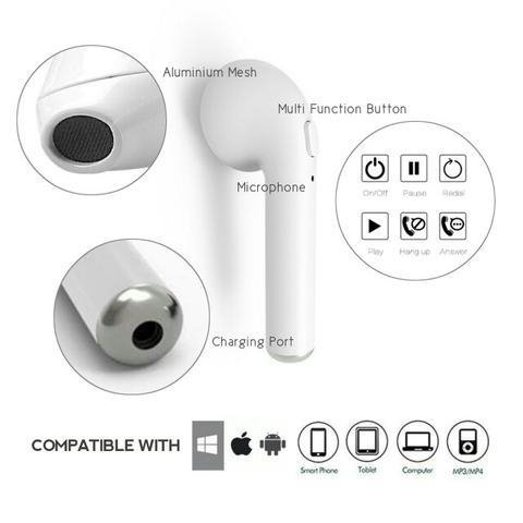 Auriculares Inalambricos I7s Tws / Iphone /android (blanco)