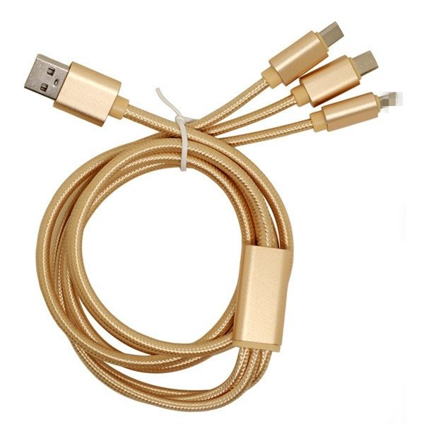 Cable iPhone / Android, carga 5 veces mas rapido / Hi-Speed Charging / 3 en 1 - TopTek