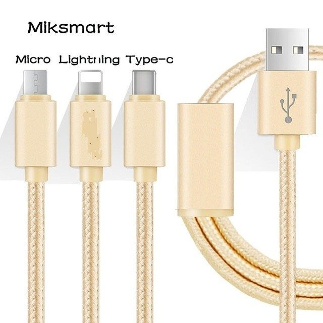 Cable iPhone / Android, carga 5 veces mas rapido / Hi-Speed Charging / 3 en 1