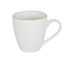 MUG DE PORCELANA LINEAS BORDE DORADO 400ML