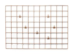 Malla Metalica Decorativa Rose Gold Cobre Con 6 Broches 65x45 Cm