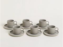 SET DE TAZA Y PLATO DE PORCELANA COPENHAGUE 200ML