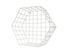Estante Metal Hexagonal Cuadrille Blanco M 27x35x36 Cm