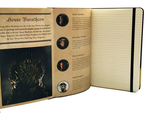 GAME OF THRONES - HOUSE BARATHEON - Ruled Journal - tienda online