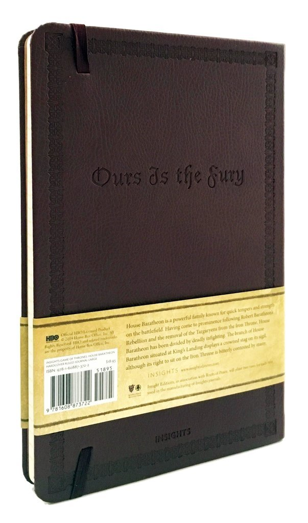 GAME OF THRONES - HOUSE BARATHEON - Ruled Journal en internet