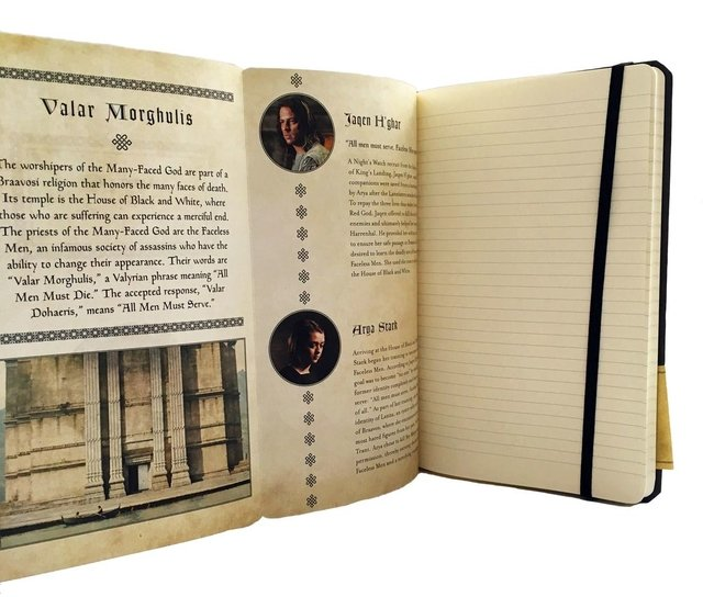 GAME OF THRONES - VALAR MORGHULIS - Ruled Journal - tienda online