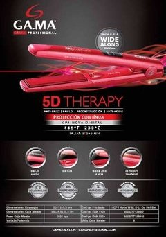 Imagen de Planchita De Pelo Gama 5d Therapy Nova Digital Wide & Long