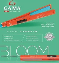 Planchita De Pelo Gama Bloom Elegance Led Digital Naranja - Tienda Ramona