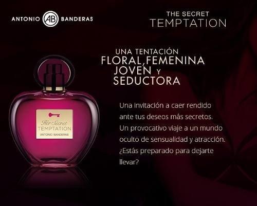 3ed3cfb20 Her Secret Temptation Antonio Banderas Edt 50ml Para Mujer