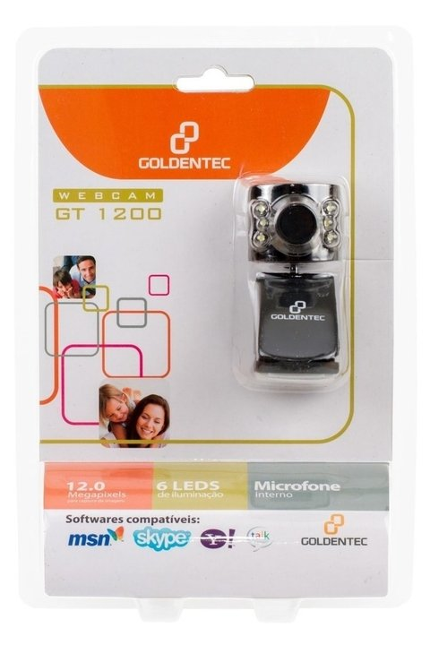 WebCam 1.3MP com Microfone Goldentec GT 1200 Preta