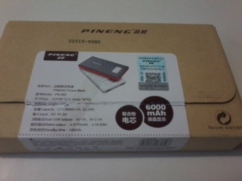 Power Bank Pineng Pn-983 Carregador Portatil Usb Iphone Ipad - comprar online
