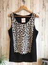 Musculosa animal print h&m t.42