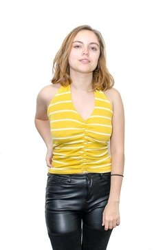 Top rayado yellow (12039)