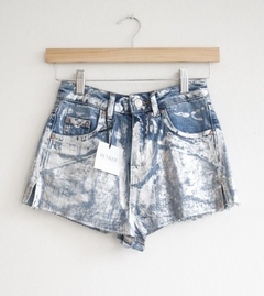 SHORT TOP SHOP metalizado (451)
