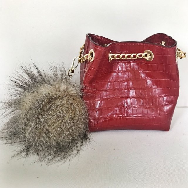 Mini Bag Charlotte Crocco Rojo