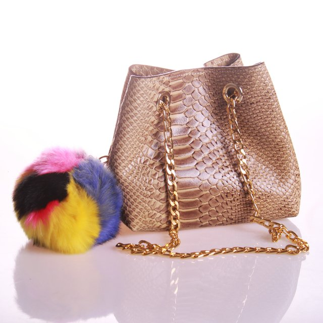 Mini Bag Charlotte Camel Grabado