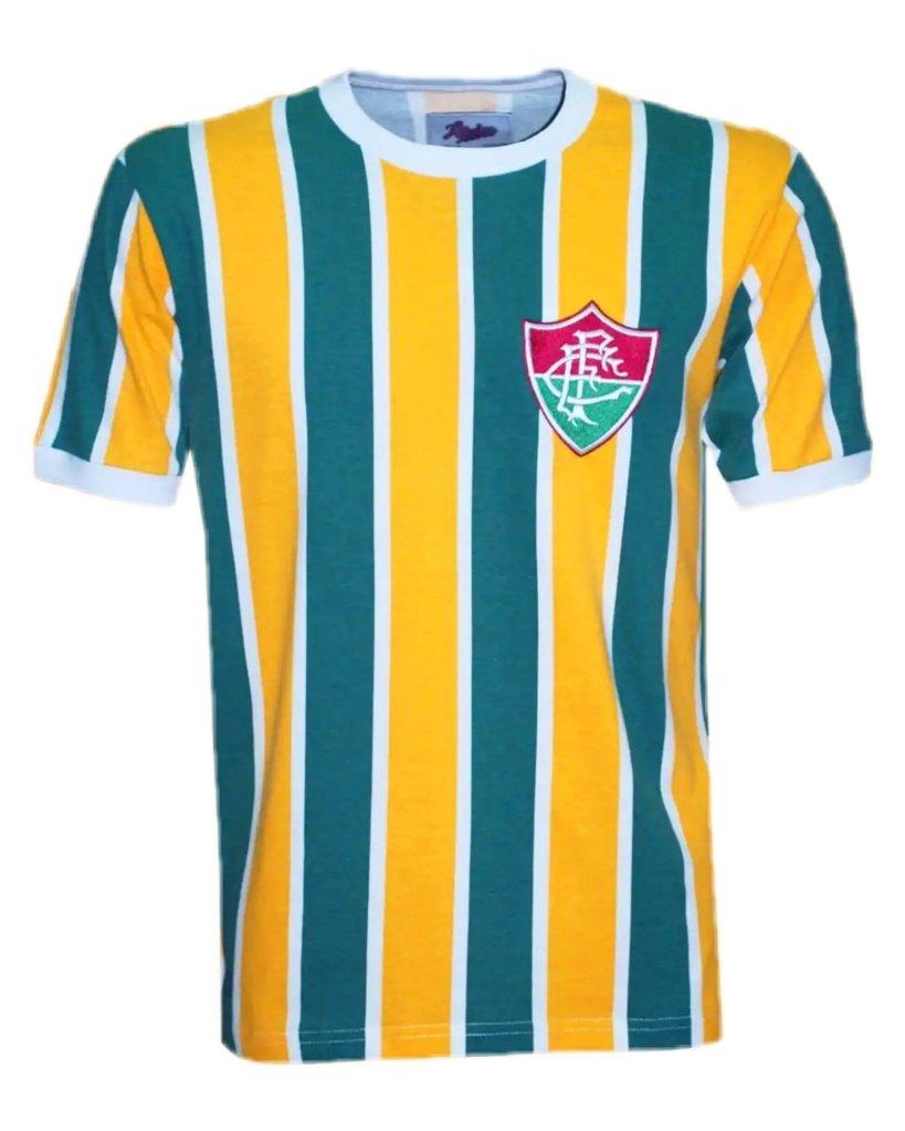 89fc2438fed40 Camisa Retrô Flu Brasil - Só Tricolor Niterói