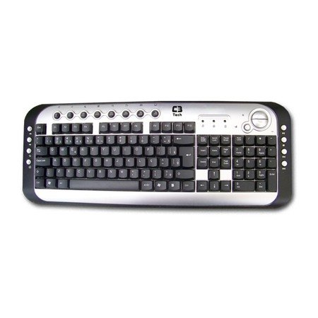 TECLADO C3TECH MULTIMIDIA KB2202-2 USB