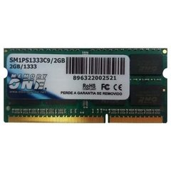 MEMORIA P/NOTEBOOK 2GB DDR3 MEMORY ONE