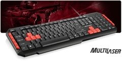 TECLADO MULTILASER GAMER MULTIMIDIA USB TC160