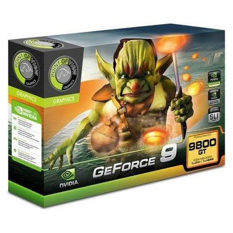 PLACA DE VÍDEO 1GB POINT OF VIEW NVIDIA GEFORCE 9800GT PCI-E - comprar online