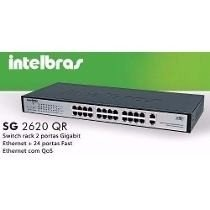 SWITCH 24 PORTAS INTELBRAS QOS SG2620QR