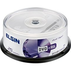 MIDIA DVD+R ELGIN 8X C/25 DUAL LAYER