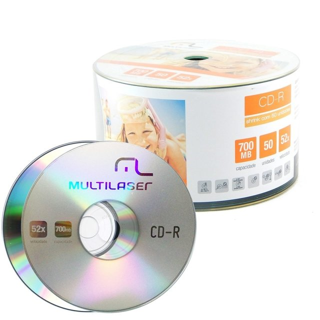 MIDIA CD-R MULTILASER C/50 na internet