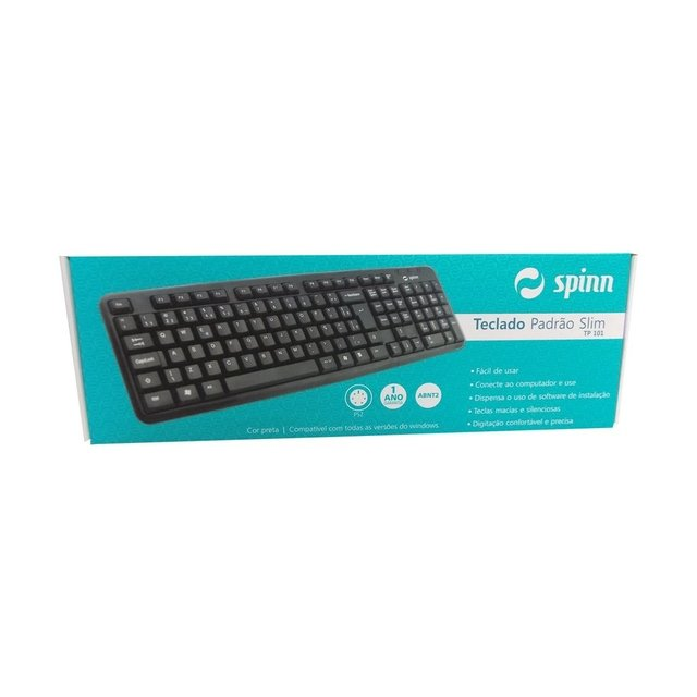 TECLADO SPINN PADRAO SLIM PS2