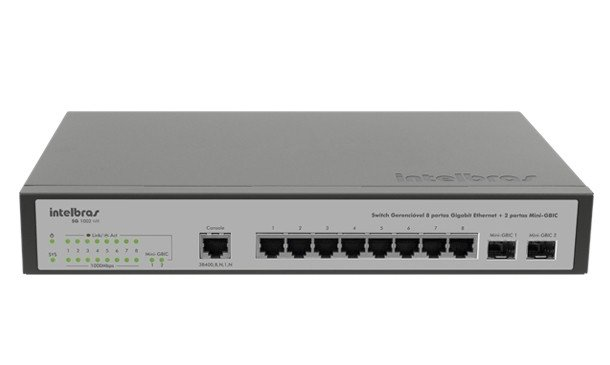SWITCH 8 PORTAS INTELBRAS SG1002MR - comprar online