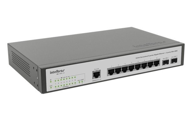 SWITCH 8 PORTAS INTELBRAS SG1002MR na internet